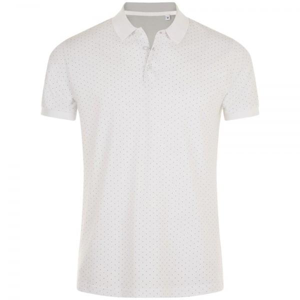 8c8af2d2849c Рубашка поло мужская BRANDY MEN, белая с темно-синим купить с нанесением  логотипа оптом на заказ ...