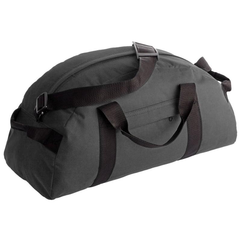 47c279036f01 Спортивная сумка Portage, серая купить с нанесением логотипа оптом на заказ  в интернет-магазине Санкт-Петербург